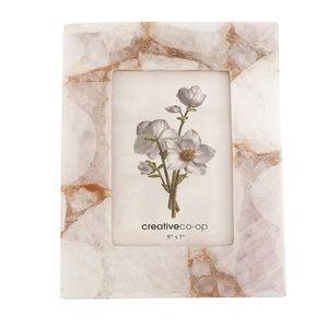 FLAWED pink quartz photo frame 5x7 healing crystal